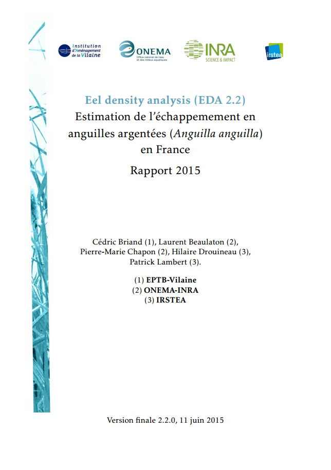 Briand et al 2015 Eel density analysis EDA 22