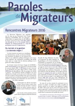 Paroles de Migrateurs n°13